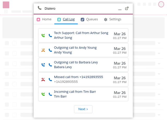 Dialero Native Softphone for Salesforce In Lightning
